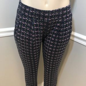 ANTHROPOLOGIE LILKA Navy Floral Jogger Pants Small